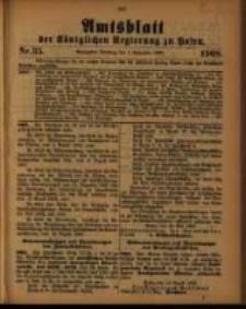 Amtsblatt der Königlichen Regierung zu Posen. 1908.09.01 Nro.35