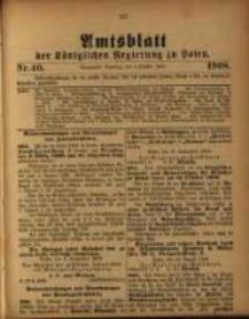 Amtsblatt der Königlichen Regierung zu Posen. 1908.10.06 Nro.40