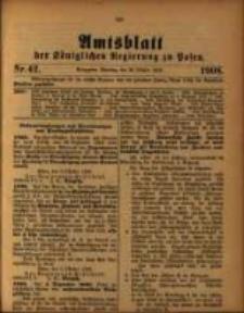 Amtsblatt der Königlichen Regierung zu Posen. 1908.10.20 Nro.42