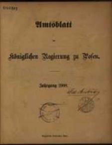 Chronologisches Sachregister zum Amtsblatt der Königlichen Regierung zu Posen für 1908