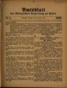 Amtsblatt der Königlichen Regierung zu Posen. 1909.01.26 Nro.4