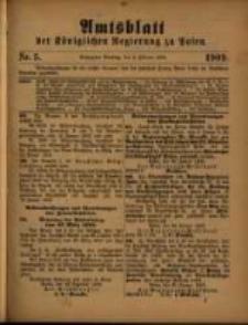 Amtsblatt der Königlichen Regierung zu Posen. 1909.02.02 Nro.5
