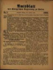 Amtsblatt der Königlichen Regierung zu Posen. 1909.02.09 Nro.7