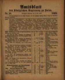 Amtsblatt der Königlichen Regierung zu Posen. 1909.05.04 Nro.18