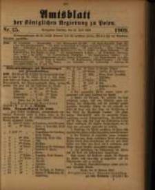 Amtsblatt der Königlichen Regierung zu Posen. 1909.06.22 Nro.25
