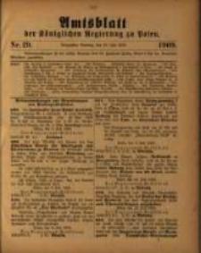 Amtsblatt der Königlichen Regierung zu Posen. 1909.07.20 Nro.29