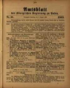 Amtsblatt der Königlichen Regierung zu Posen. 1909.08.03 Nro.31
