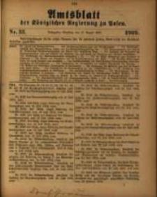 Amtsblatt der Königlichen Regierung zu Posen. 1909.08.17 Nro.33