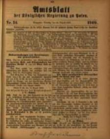 Amtsblatt der Königlichen Regierung zu Posen. 1909.08.24 Nro.34