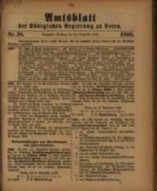 Amtsblatt der Königlichen Regierung zu Posen. 1909.09.21 Nro.38
