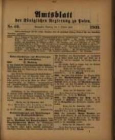 Amtsblatt der Königlichen Regierung zu Posen. 1909.10.05 Nro.40