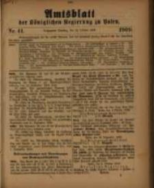 Amtsblatt der Königlichen Regierung zu Posen. 1909.10.22 Nro.41