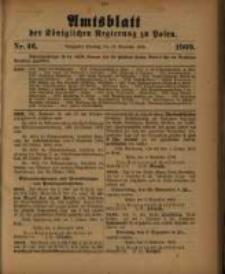 Amtsblatt der Königlichen Regierung zu Posen. 1909.11.16 Nro.46