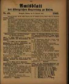 Amtsblatt der Königlichen Regierung zu Posen. 1909.11.30 Nro.48