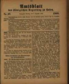 Amtsblatt der Königlichen Regierung zu Posen. 1909.12.07 Nro.49
