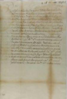 List cesarza Rudolfa II do króla Zygmunta III, Praga 27.02.1597