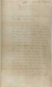 List Jana Dymitra Solikowskiego arcybiskupa lwowskiego do króla Zygmunta III, Zamość 28.08.1599