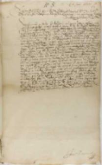 Kopia współczesna listu Zygmunta III, Warszawa 01.06.1600