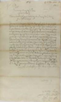 List Jana Firleia do króla Zygmunta III, Lublin 06.05.1601