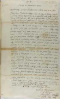 List Jana Firleja do X. Szymona Rudnickiego, Markuszów 13.06.1601