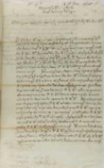 List Stanisława Karnkowskiego arcybiskupa gnieźnieńskiego do króla Zygmunta III, Gniezno 25.06.1601