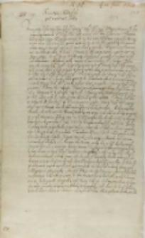 List Jana Schorna do króla Zygmunta III, Elbląg 28.06.1601