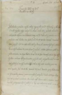 List Stanisława Kostki do króla Zygmunta III, Malbork 15.07.1601