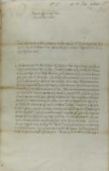 List Wojciech Baranowskiego biskupa płockiego do króla Zygmunta III, Pułtusk 23.06.1601