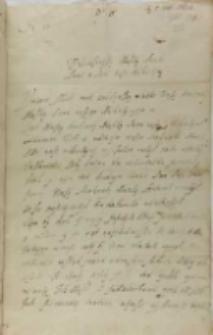 List Janusza Zbaraskiego wojewody bracławskiego do króla Zygmunta III, Krzemieniec 05.02.1602