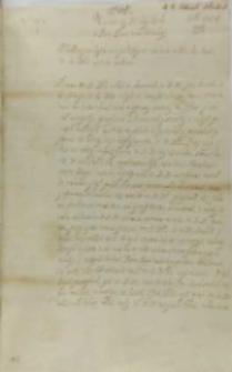 List Jana Dymitra Solikowskiego arcybiskupa lwowskiego do króla Zygmunta III, Ostróg 06.02.1602