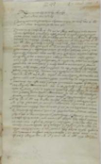 List Czarnkowskiego kasztelana kaliskiego do króla Zygmunta III, Połajów 07.02.1602