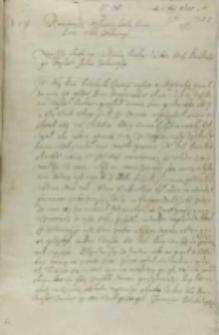 List Jana Sernego do króla Zygmunta III, Wiłkomierz 06.11.1601