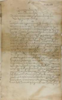 List Jana Firleia podskarbiego koronnego do króla Zygmunta III, Kebło 22.11.1601
