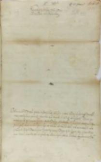List Stanisława Cikowskiego podkomorzego krakowskiego do króla Zygmunta III, Kraków 25.01.1602