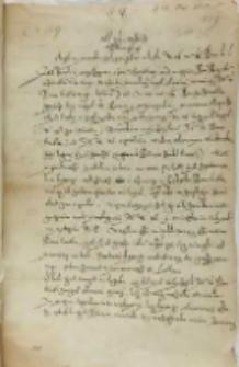 List Jerzego Kostki do Piotra Tylickiego biskupa warmińskiego, Malbork 23.05.1602