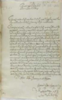 List Wojciech Baranowskiego biskupa płockiego do króla Zygmunta III, Pułtusk 05.06.1602
