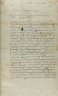 List Jana Firleia do króla Zygmunta III, Markuszów 07.06.1602
