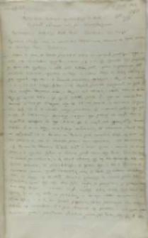 Kopia listu Andrzeja Opalińskiego do króla Zygmunta III, Kalisz 07.06.1602