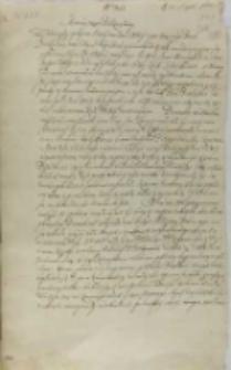 List Jana Firleia do króla Zygmunta III, Markuszów 22.08.1602