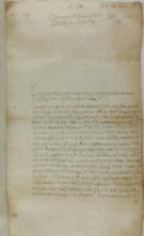 List Stanisława Kosa do króla Zygmunta III, obóz pod Białym Kamieniem 06.09.1602