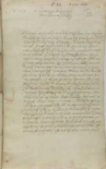 List Jana Firleia do króla Zygmunta III, Lublin 25.11.1602