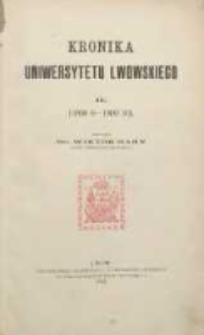 Kronika Uniwersytetu Lwowskiego 1898/1899-1909/1910