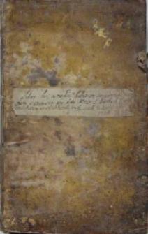 Liber hic a medio habet in se connotationem summarum pro dote Altari S(anctae) Barbarae V(irginis) et M(artyris) Fundatarum et inscribendarum etc. quae videnda est 1736