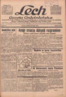 """Lech.Gazeta Gnieźnieńska: codzienne pismo polityczne dla wszystkich stanów. Dodatki: tygodniowy """"Lechita"""" i powieściowy oraz dwutygodnik """"Leszek"""" 1936.02.20 R.36 Nr42"""