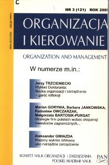Strategie firm polskich wobec ekspansji inwestorów zagranicznych - znaczenie kontekstu branżowego - ujęcie empiryczne