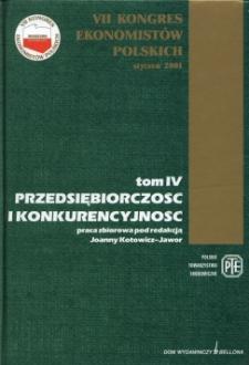 Międzynarodowa konkurencyjność polskich przedsiębiorstw - wyniki badań empirycznych