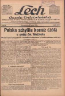 """Lech.Gazeta Gnieźnieńska: codzienne pismo polityczne dla wszystkich stanów. Dodatki: tygodniowy """"Lechita"""" i powieściowy oraz dwutygodnik """"Leszek"""" 1936.04.28 R.36 Nr99"""