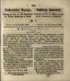 Oeffentlicher Anzeiger. 1853.11.22 Nro.47