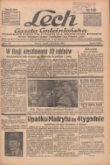 """Lech.Gazeta Gnieźnieńska: codzienne pismo polityczne dla wszystkich stanów. Dodatki: tygodniowy """"Lechita"""" i powieściowy oraz dwutygodnik """"Leszek"""" 1936.10.06 R.36 Nr232"""