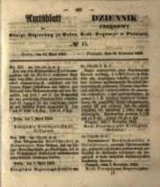 Amtsblatt der Königlichen Regierung zu Posen. 1853.04.12 Nro.15